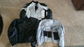 Price reduced! Cortech 3 piece jacket Size XL (black, white and gray colored) in Lawton, Oklahoma