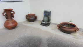 Fountain and 3 Flower Pots in Okinawa, Japan