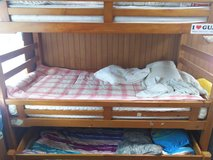 Triple decker bunk bed in Okinawa, Japan