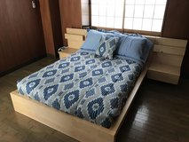 Ikea Double Bed with night stands in Okinawa, Japan