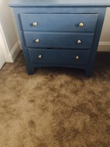 Abusson blue 3 drawer nightstand in 29 Palms, California