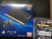 PS3 with Accessories and Games in Okinawa, Japan