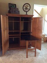 Armoire, computer desk, computer cabinet (Solid wood) in Aurora, Illinois