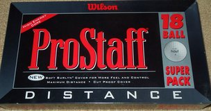 Wilson ProStaff Distance Golf Balls, 18 count, brand new in box in Naperville, Illinois