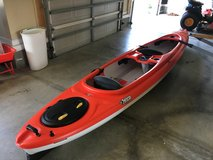 Pelican Unison 136T Kayak and Kayak Hoist System in Excellent Condition in Camp Lejeune, North Carolina