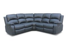 NEW -- Bonbon Recliner Sectional in Black bonded leather including delivery in Vicenza, Italy