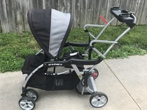 Sit n stand double stroller in Aurora, Illinois