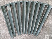 Aluminum surplus tent stakes in Fort Leonard Wood, Missouri