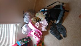 Bags of girl clothes in Fort Campbell, Kentucky