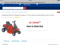 "Craftsman Commercial 30"" Lawn Tractor with bagger in Camp Lejeune, North Carolina"