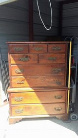 Wooden dresser in Camp Lejeune, North Carolina