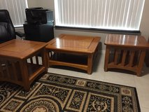 2 mission style Oak end tables & coffee table in Eglin AFB, Florida
