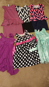 Bundle of 6 Girl Dresses Sizes 7/8 and 10/12 in Fort Hood, Texas