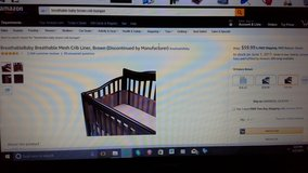 NEW Breathable Baby Crib Bumper Pad in Camp Pendleton, California