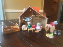 Calico Critter House Set with furniture and family in Pleasant View, Tennessee