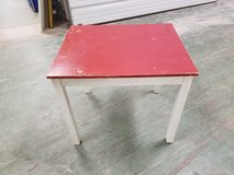 "Ikea Red top White frame small end table side table ""Gulliver"" in Westmont, Illinois"