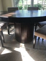 Solid wood Arhaus table and chairs in Bolingbrook, Illinois