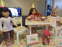 Cute owl theme table/chairs fits American Girl dolls in Morris, Illinois