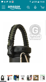 HydroCord: Braided Parachute Cord handle for bottles in Vista, California