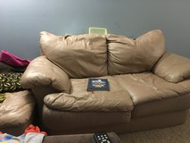 Leather love seat and ottoman in Bolingbrook, Illinois