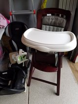 Wooden high chair in Bolingbrook, Illinois