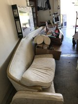 Vintage project white sofa in Travis AFB, California