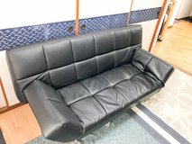 Black Leather Sofa in Okinawa, Japan