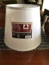 Large 15-Inch Modified Barrel Lamp Shade in White Fabric in Okinawa, Japan