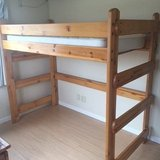 Wood Bunk Bed (+ twin mattress) in Okinawa, Japan