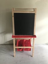 Kids Easel White Board/ Chalk Board with storage in Okinawa, Japan