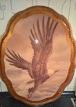 WOOD WALL PICTURE EAGLE FLYING in Ramstein, Germany