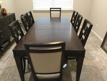 Beautiful formal dining room table and chairs in Kingwood, Texas