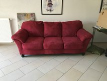 3 seat couch (red) in Ramstein, Germany
