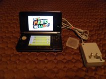 Nintendo 3DS Black ctr-001 With Super Mario 3D Land, Ac Adapter & 8GB SD HC Card in Byron, Georgia