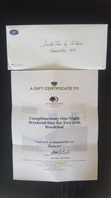 Gift Certificate Complementary one night weekend stay + breakfast Hilton Charlotte NC in Byron, Georgia
