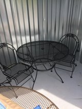 Wrought Iron Table with Two Comfort Rocker Chairs in Beaufort, South Carolina