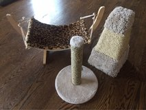 Cat hammock and scratching posts in Fort Carson, Colorado
