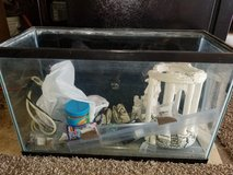 Fish tank with accessories in Lockport, Illinois