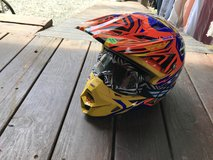 Motocross helmet YL with goggles in Ruidoso, New Mexico