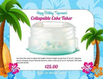 Tupperware Round Cake Taker Calapser in Guam, GU