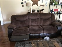Micro fiber reclining couch in Perry, Georgia