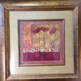 Poppies framed art with glass in Batavia, Illinois