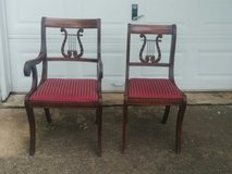 Lyre Back Dining Chairs, 6 in Tomball, Texas