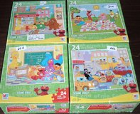 ONLY $1 (4) Sesame Street Puzzles from Milton Bradley 24-Piece Age 3+ in Joliet, Illinois