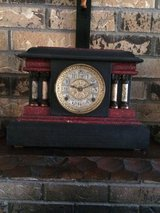 Mantle clock red design in Alamogordo, New Mexico
