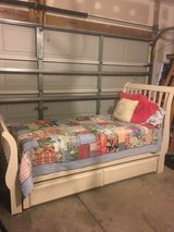 Sleigh style twin bed with trundle in Charleston, South Carolina