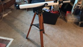 Astronomical telescope in vintage tripod solid wood and metal in Alamogordo, New Mexico