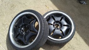 """18"""" zRated low pro Tires 95% life in rims(2) in 29 Palms, California"""