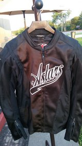 AlpineStars Jet Black Leather motorcycle jacket in Fort Knox, Kentucky