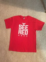 2 Bulls T shirts- See Red in Glendale Heights, Illinois